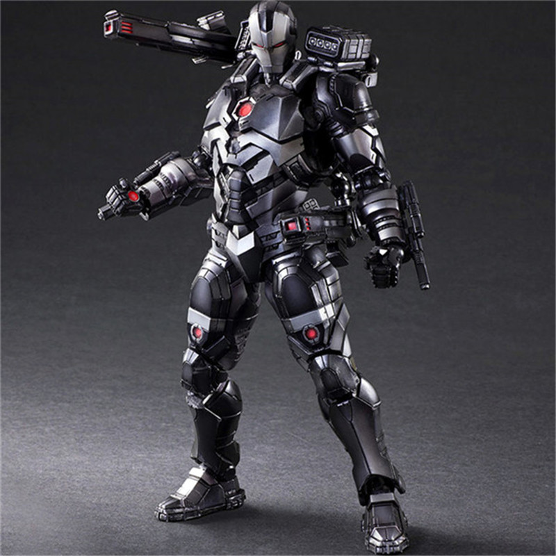 Luxury Super Heroes Iron Man Action Figure Toys Movie Grey Iron Man with Weapon Variable Figuras Dolls Brinquedos Cosplay Gift 27cm  (8)