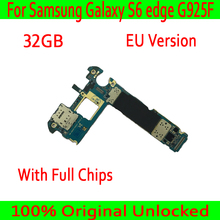 ЕС Версия для samsung Galaxy S6 edge G925F материнская плата с Android Системы, оригинальный разблокирована для samsung S6 G925F материнскую плату