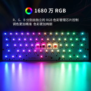 Image 3 - GK61 hot swap PCB mechanical keyboard GH60 RGB Backlight independent driver tyce c interface Musical rhythm Customization kit