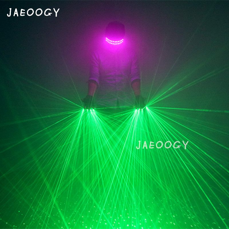 High Quality Green Laser Gloves Halloween Show Dancing Glowing LED Glasses Nightclub Fluorescent Props Lighting Gloves