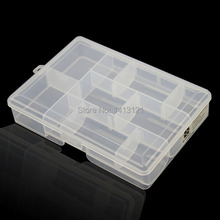 free shipping PP storage box grid Category Box Sealed bin Home Movable insert part box classify battery button jewelry tool box