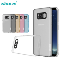 Case For Samsung Galaxy S8 S8 Plus Nillkin Nature Transparent Clear Soft Silicon TPU Protector Case