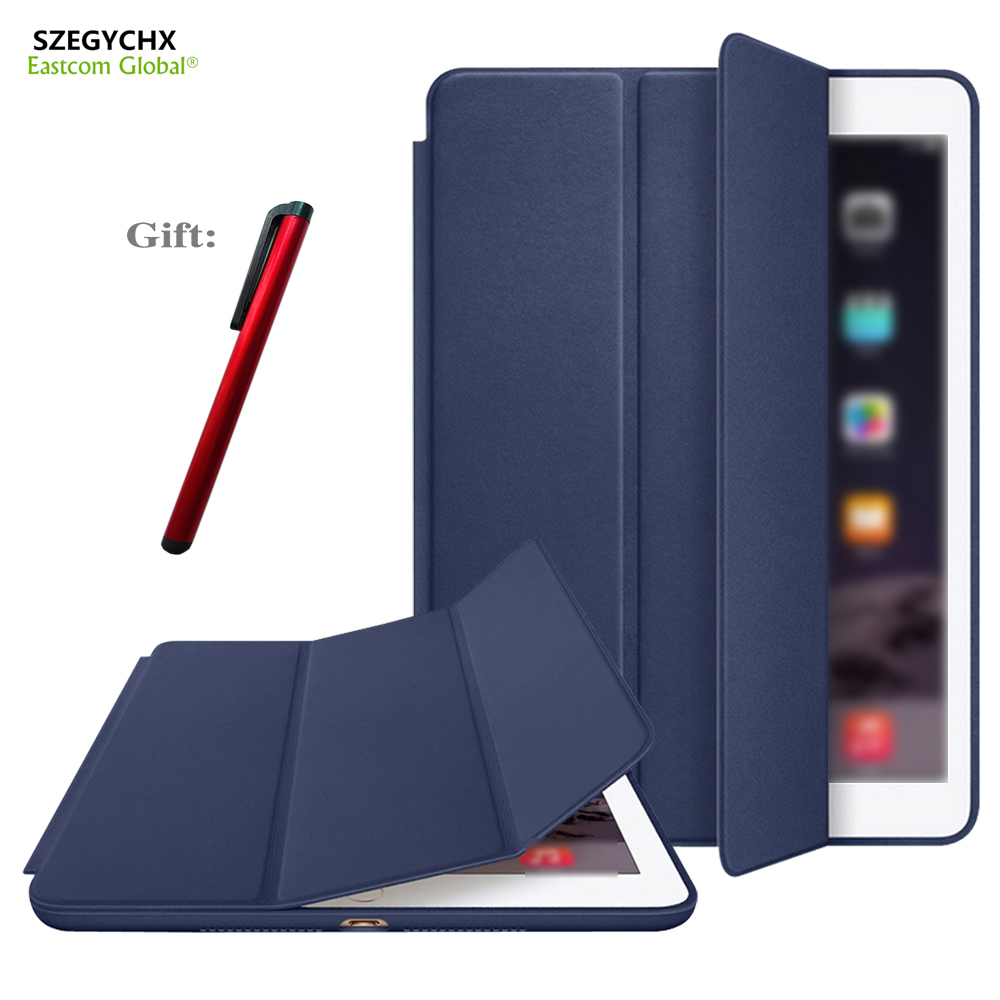 SZEGYCHX Original 1:1 Slim Smart Case For iPad Mini 4 PU Leather Cover For iPad 2 3 4 Auto Sleep Wake For iPad Air 1 Case Cover case for ipad mini 4 pu leather front cover soft silicone edge back shell stand auto sleep smart case for ipad mini 4 original