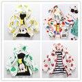 2016 ОСЕНЬ бобо выбирает kikikids девочка одежда bebe vetement гарсон дети куртки пальто outweras Солнцезащитный Крем одежда свадебные платья