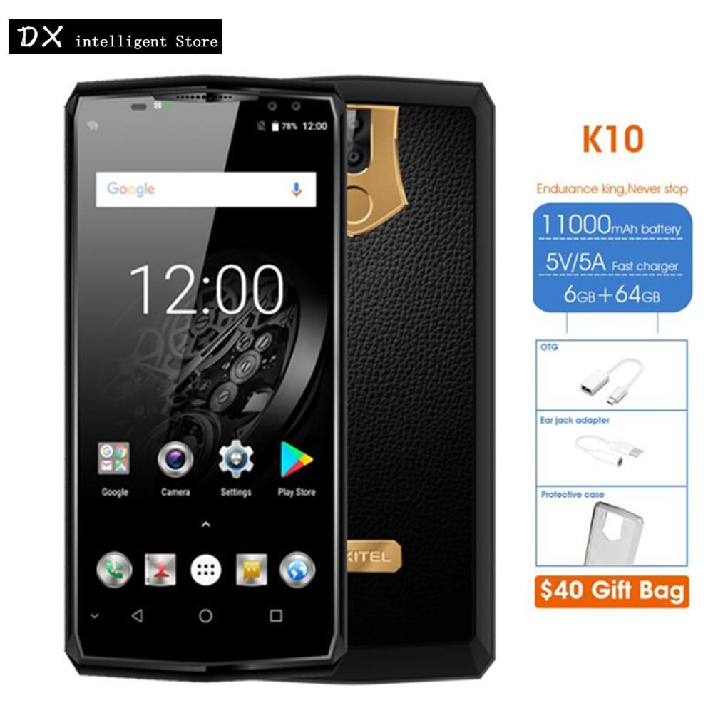 "Oukitel K10 6 ГБ + 64 ГБ 21MP 4 Камера Helio P23 MTK6763 Octa Core 4 г LTE мобильный телефон 6,0 ""18:9 FHD + OTG NFC отпечатков пальцев 11000 мАч"