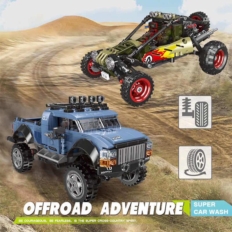 500pcs + מתנה SUV משחק טנדר מכונית דגם רכב צעצועי לבנים באגי בניין בלוק כלי קובע תואם עם legoings