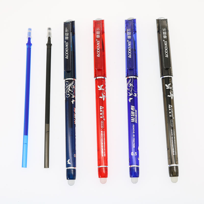 Can Be Rubbed Magic Magic Pen Black / Blue / Dark Blue / Red Ink 0.5mm Student Stationery Refills And Eraser 6924 magic ring phantom impregnable fortress magic set white blue