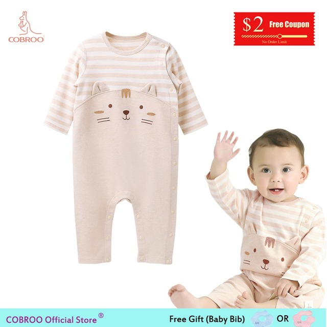 16d9a945d98a COBROO Baby Clothes Unisex Baby Girl Romper Autumn Winter Outwear ...