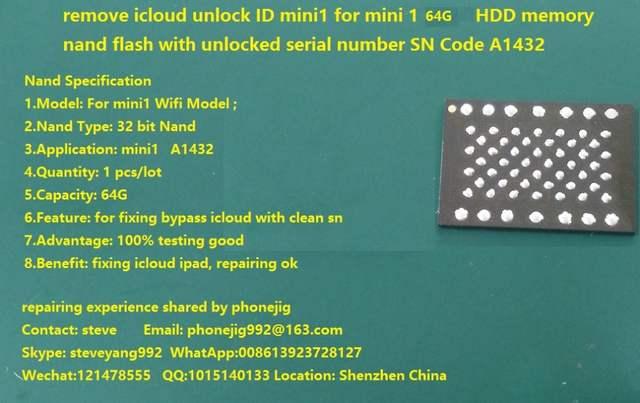 ipad3 nand 64g remove icloud, nand flash bypass locked id,unlock ipad3 64GB  ,ipad 3 34GB hdd memory 100% tested