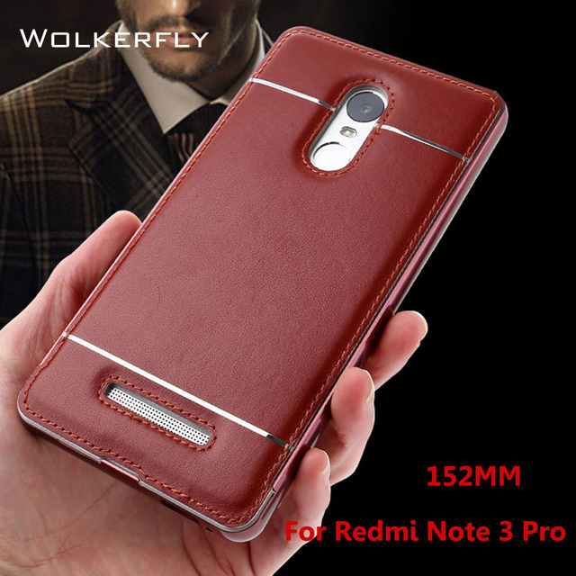 new photos 814f2 5eb52 US $7.79 |Redmi Note 3 Pro Case 152mm Aluminum Metal Frame Leather Sticker  Cases For Xiaomi Redmi Note 3 Pro Prime Special Edition SE -in Fitted Cases  ...
