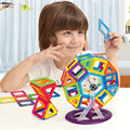 60 unids marca diseñador magnética bloques de construcción magnética juguetes mini diy educational construcción ladrillos de plástico juguetes de los niños