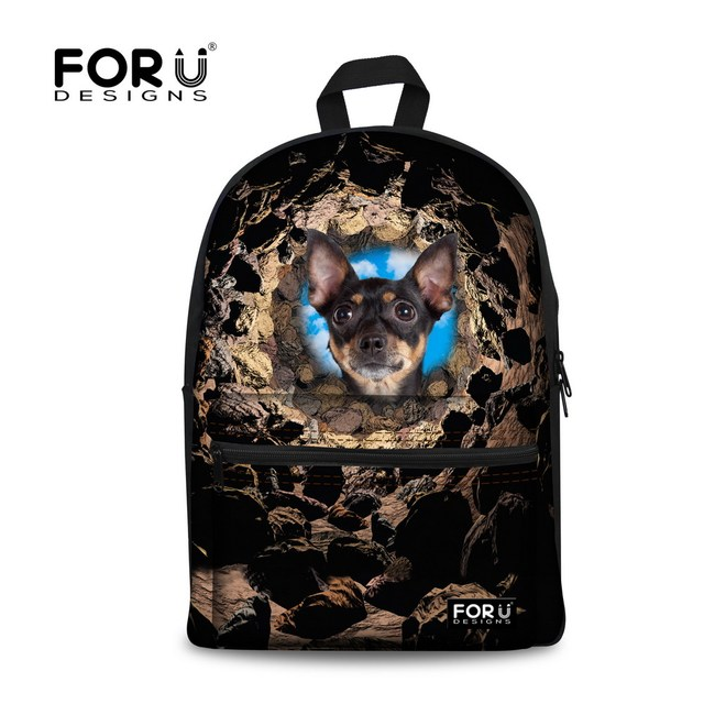 Cute ped dog child school bag for teenager boys zoo animal travel backpack kids schoolbag mochila infantil black escolar bolsas