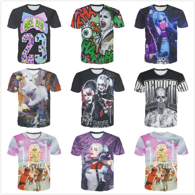Suicide Squad- Full Printed  Suicide Squad T-Shirt (5 Types)