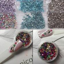 1 пакет 20 г 1-2 мм разбитое стекло неправильные каменные бусины Стразы для ногтей 3D дизайн ногтей драгоценные камни украшения для ногтей, HGU7y