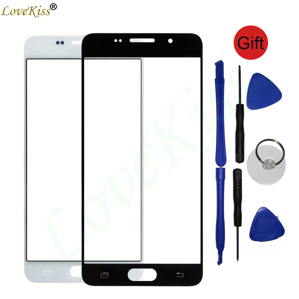 For Samsung Galaxy A3 A5 2015 A300F A500F 2016 A310 A310F A510 A510F Touch Screen Panel Front Outer Glass Lens Cover Replacement