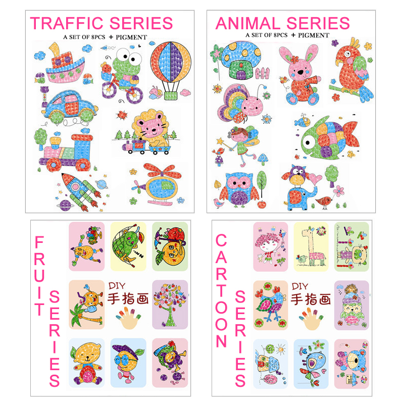 8pcslot-Kids-Toy-Anime-Drawing-Set-Cards-Stickers-Diy-Coloring-Books-for-Kids-Water-Drawing-Book-Hand-Spinner-Toys-for-Children-3