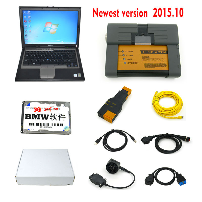2015 Top-Rated for bmw icom a2 with laptop +software v2015.10 + DELL D630 ready to work 3in1 programming & diagnostic