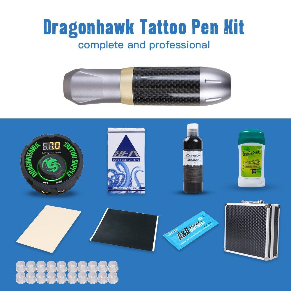Professional Tattoo Pen Kit Rotary Machine Set With LCD Mini Power Tattoo Pedal Switch Supply цены онлайн