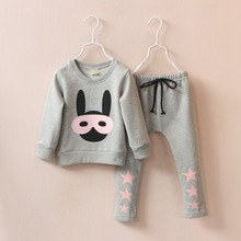 Scorching On sale!Fall In TheSpring Of 2015 Boys Women Cotton Two-Piece Sers The Kids's Clothes Units Free Postage