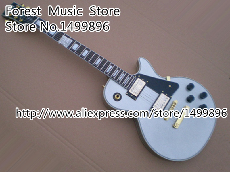 Top Quality White LP Custom Electric Guitarra with Rosewood Fingerboard China OEM Left Handed Available high quality vintage green lp custom model electric china guitar with gold hardware left handed available
