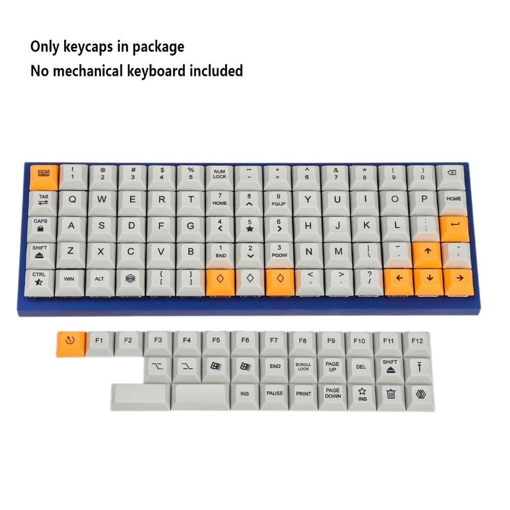 75 Keys DSA Dye Sub PBT Keycaps Suitable For Ortholinear Layout MX Keyboard XD75 ID75 Planck