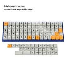 75 touches DSA colorant sous PBT Keycaps adapté à la disposition ortholinéaire clavier MX XD75 ID75 Planck Preonic Niu40