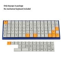 Колпачки для ключей DSA Dye Sub PBT, 75 клавиш, подходит для раскладки Ortholinear, клавиатура MX XD75 ID75 Planck Preonic Niu40
