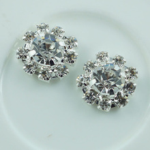 100pcs/lot 12MM Metal Rhinestone Buttons Wedding Invitation Card Embellishment Hair Flower Center Scrapbook Sewing Accessories