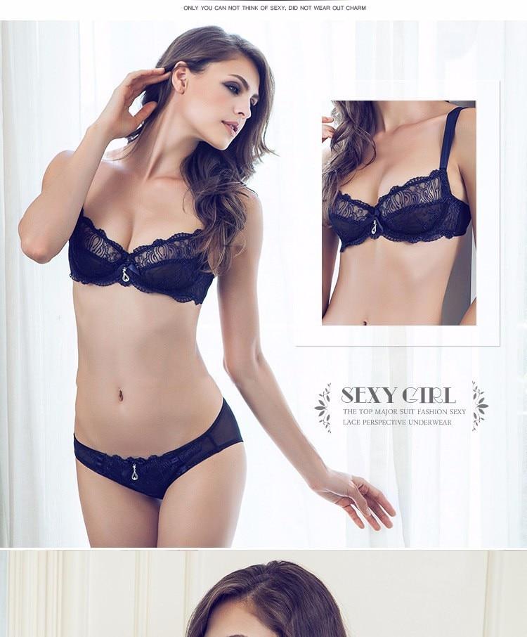 8407121f50c 2017 brand elegant underwear set full transparent lace sexy women ...