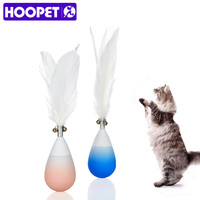 Hoopetペット犬猫ティーザートルコフェザーインタラクティブスティックタンブラー形状おもちゃワイヤーチェイサー
