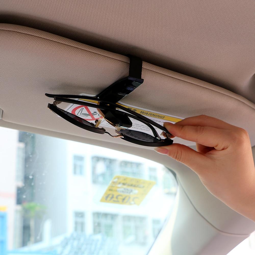LEEPEE New Car Vehicle Sun Visor Glasögon Hållare Kort Biljett Pen - Bil interiör tillbehör - Foto 5