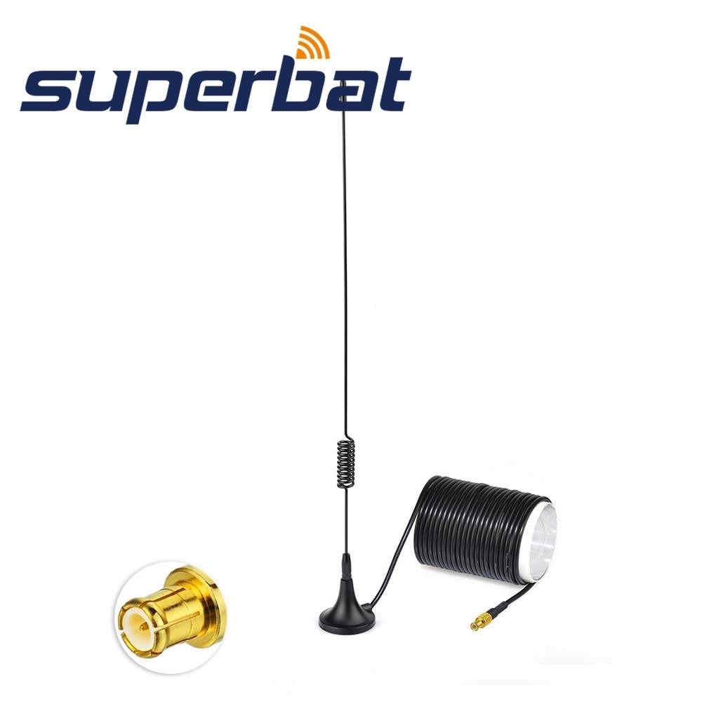 Superbat Digital Freeview 5dBi Aerial DAB/DAB+/FM/AM Car Radios Aerial Magnetic Mount Of MCX Male Connector For DAB+Truner CDAB7