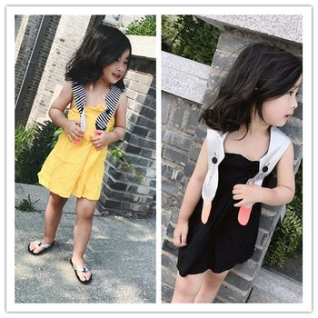 reputable site c6806 34ce6 Baby mädchen kleidung mädchen kleid sommer Schöne schwan modellierung  streifen strap kleid mädchen sommer kleid 2 farbe mädchen kleider