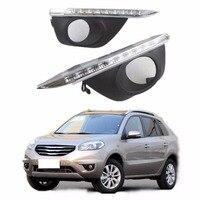 LED Gündüz Çalışan Işık ışık Renault koleos 2011-2013 Için araba styling gündüz ışık led DRL