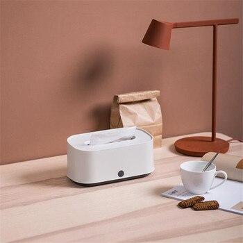 2019 caja de pañuelos creativa gris y blanco caliente hogar multifunción sala de estar mesa de café caja de almacenamiento bandeja de papel toalla