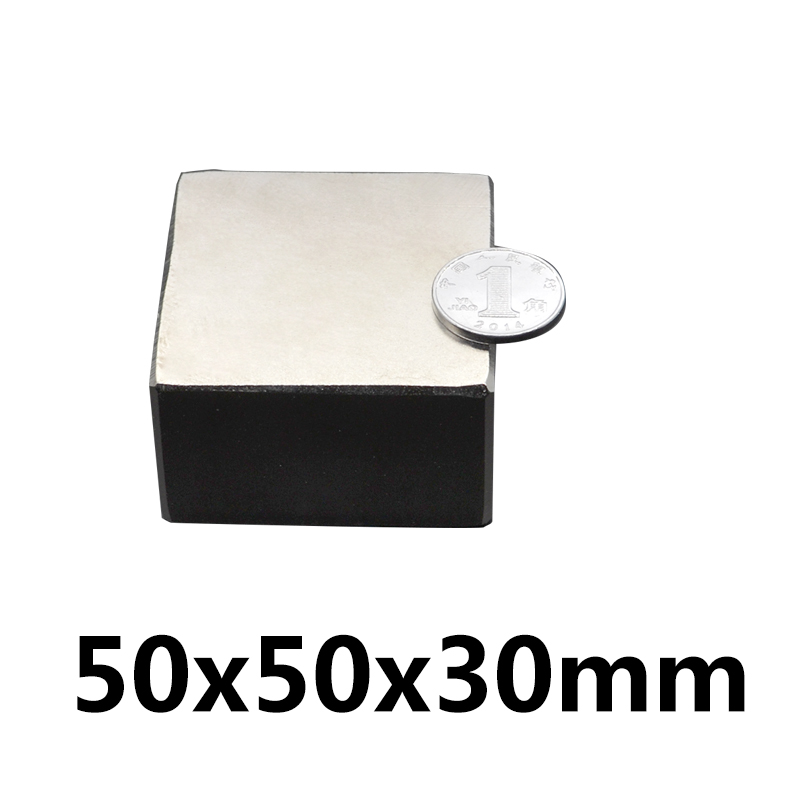 1 pcs Bloc 50x50x30mm Super Forte haute qualité Rare Earth aimants Néodyme Aimant 50 * 50*30mm 50x50x30mm