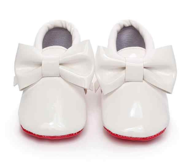 4598c54d5c HONGTEYA Red sole Sequins PU Leather Baby Moccasins big bow Newborn first  girls walker Infant Crib bebe Shoes 0-1T hot sale