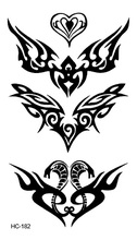 HC-182 Body Art Sex Products Black White Snake Fire For Face Water Transfer Temporary Fast Flash Fake Tattoos Sticker Taty