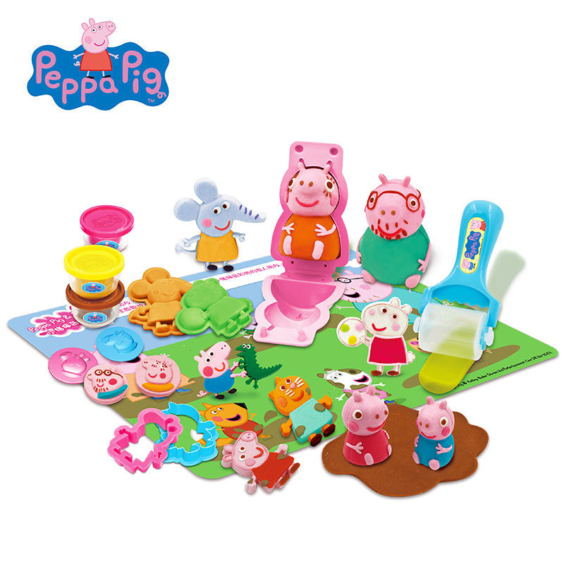 Peppa pig apprentissage éducation slime 6 couleur argile jouet argile non toxique plasticine moule outil jouet couleur boue costume jouet pour enfants