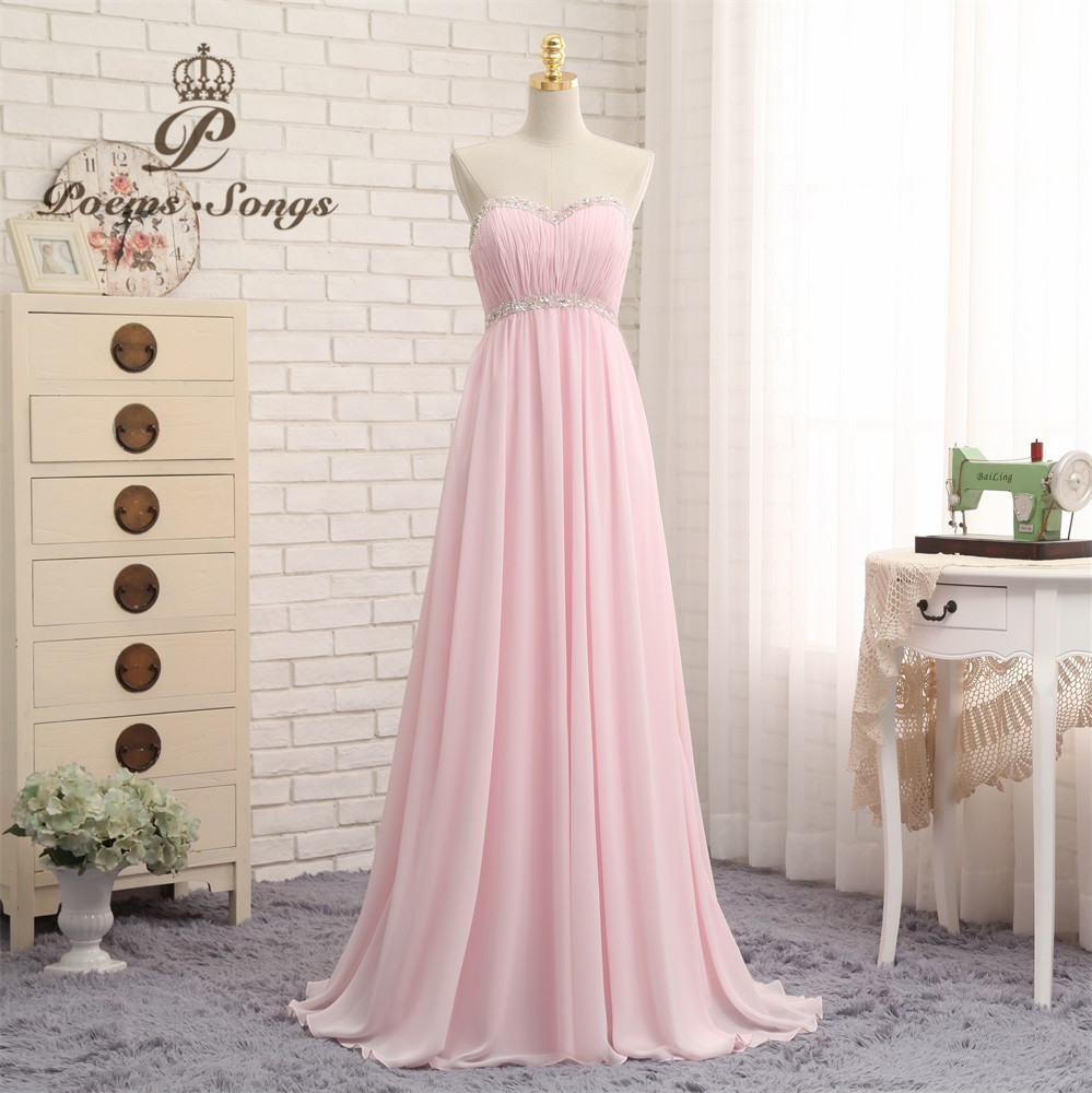 Poems Songs Elegant Backless   Evening     Dress   2019 Candy Color Prom   Dress   Strapless Formal   Dress   vestido de festa longo abiye
