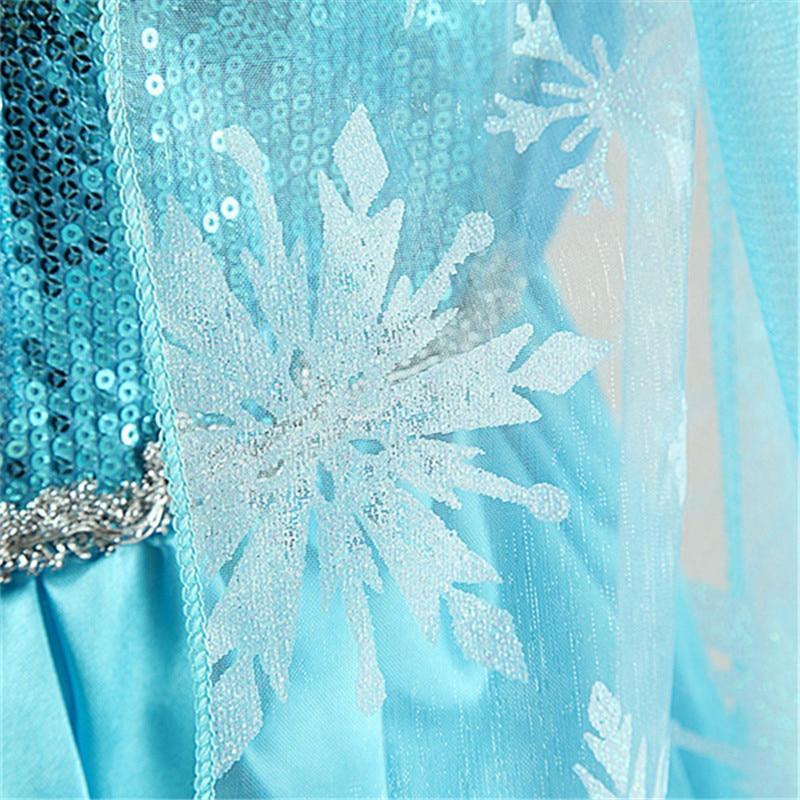 Mädchen Prinzessin Anna Elsa Cosplay Phantasie Kostüm Kid Mädchen ...