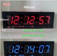 HT4819SM 9 Free Shipping Aluminum Large Digital Clock Big LED Watch Modern Design Home Decor Decoration