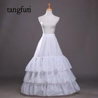 White Wedding Petticoats For A Line Bridal Dress Gown Wdding Accessories Women Underskirt Crinoline Jupon Cheap