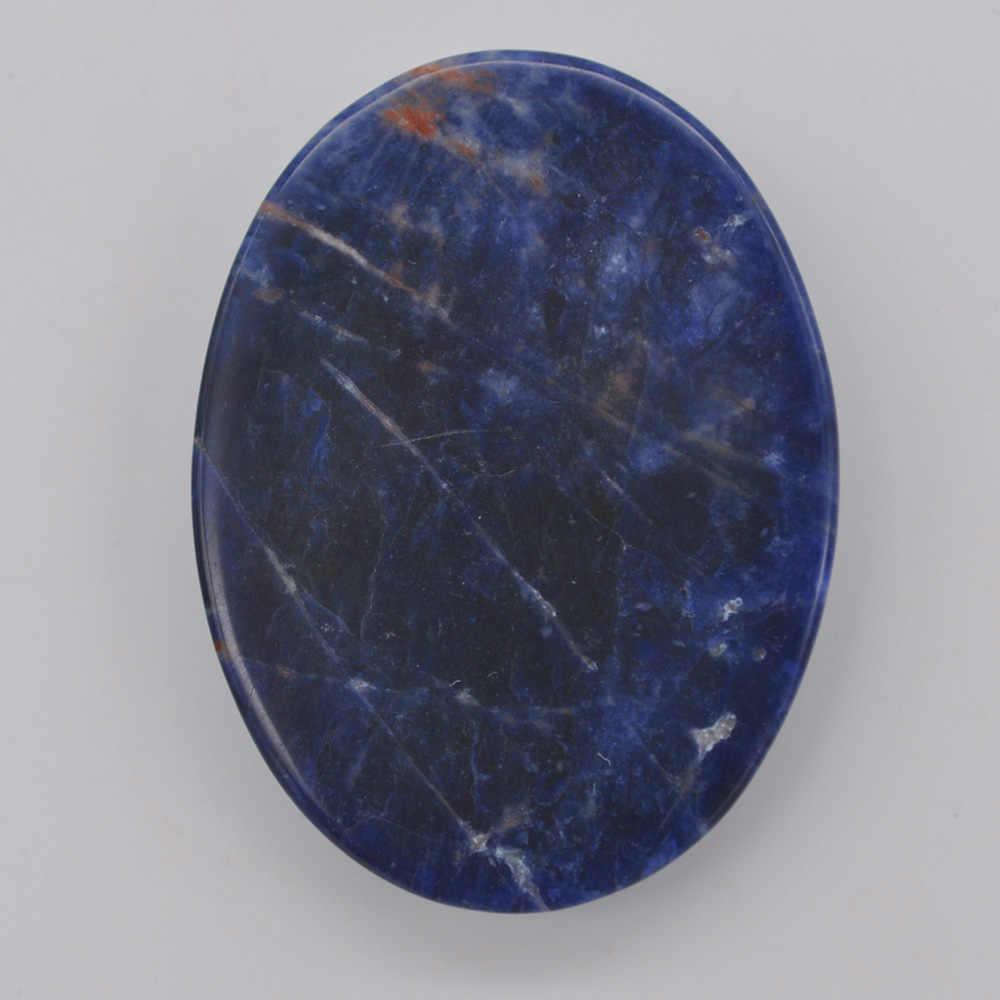 40x30MM Natural Brazilian Sodalite Stone Oval Cabochon CAB GEM Jewelry Making 1PCS H075