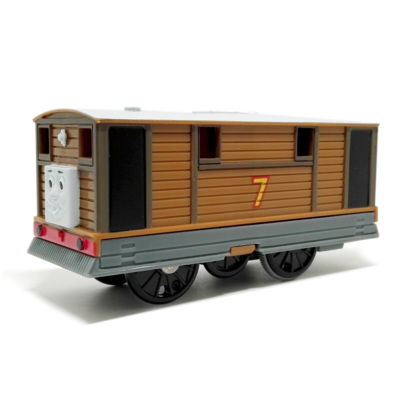 T0191 Electric Thomas and friend Toby Trackmaster engine Motorized train Chinldren child kids plastic toys