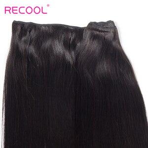 Image 2 - Recool البرازيلي مستقيم موجة حزم ريمي شعر مستعار بشري ضفيرة شعر برازيلي حزم يمكن شراء 1 3 4 حزم