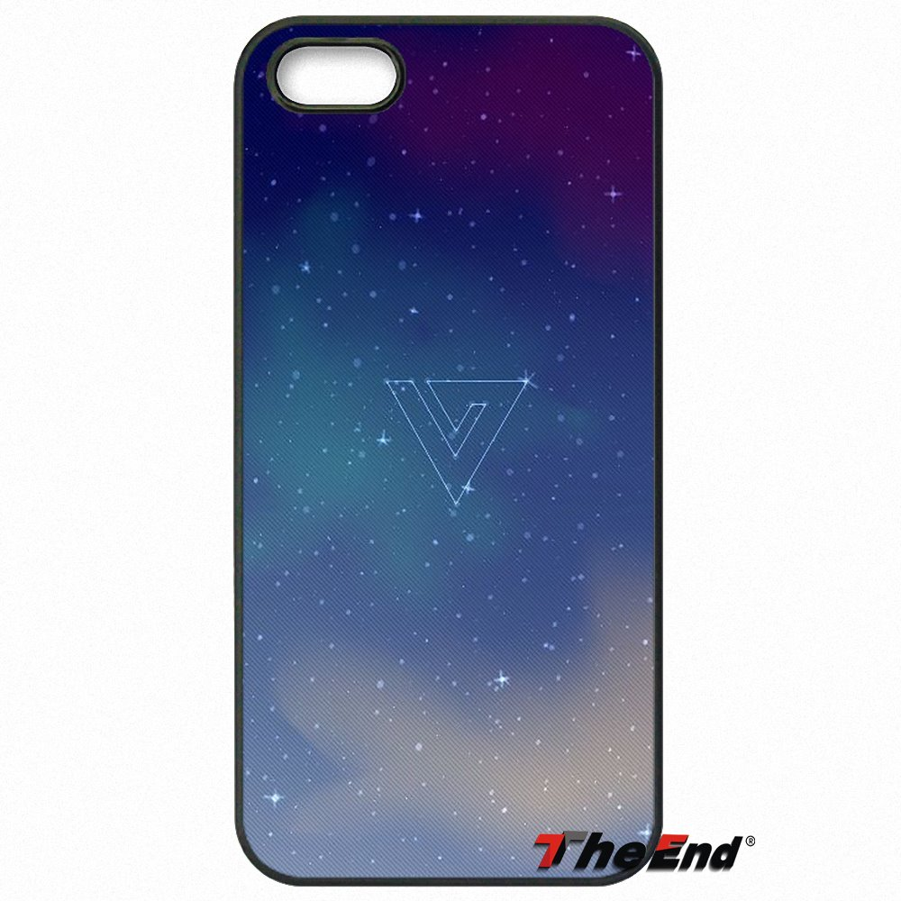 Fashion KPop Seventeen Logo Wallpaper Case Cover For Huawei Ascend P6 P7 P8 P9 P10 Lite Plus 2017 Honor 5C 6 4X 5X Mate 8 7 9 In Half Wrapped From