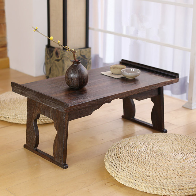 Buy japanese antique tea table folding for Traditional japanese furniture