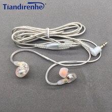 DIY MMCX 이어폰 케이블 Shure SE215 SE535 SE846 UE900 동적 10mm 단위 HIFI 사용자 정의 스포츠 헤드셋 아이폰 xiaomi