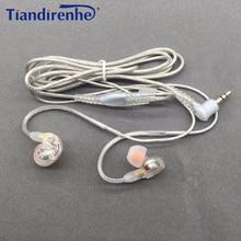 DIY MMCX kulaklık kablosu Shure SE215 SE535 SE846 UE900 dinamik 10mm üniteleri HIFI özelleştirilmiş spor kulaklık için iPhone xiaomi